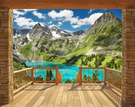 Wallpaper Mural Alpine Mountain